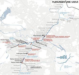 U10 (Berlin U-Bahn) - Image: Karte berlin u u 10 3
