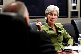 Kathleen Sebelius - Sebelius at an HHS meeting in April 2009