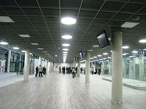 Kaunas Airport - Inside the terminal building