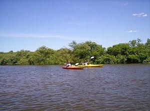 Kalamazoo River - Kayakers on the Kalamazoo River