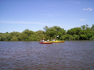 Kalamazoo River - Kayakers on the Kalamazoo River