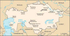 Mapa Kazachstanu