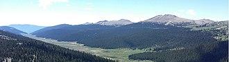 Kenosha Mountains - Kenosha Mountains viewed from Platte Peak looking southeast.