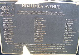 Kentucky, New South Wales - Noalimba Avenue Memorial