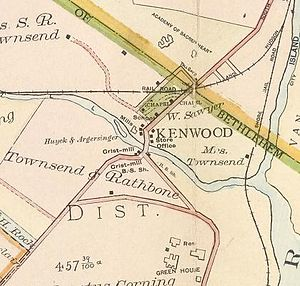 Kenwood, Albany, New York - Map of Kenwood in 1891.