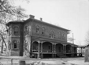 Kenworthy Hall - Rear elevation of Kenworthy Hall in 1934.