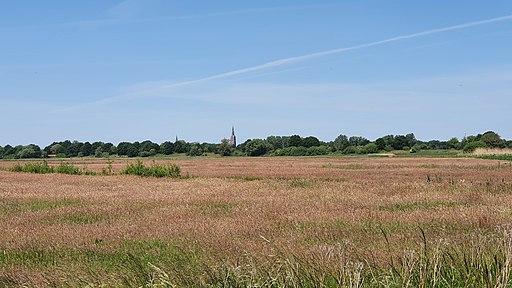 Kerk Vlijmen vanuit Gement polder