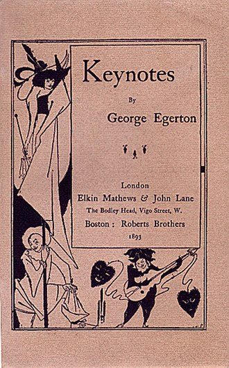 George Egerton - Cover of Egerton's first short story collection with cover art by Aubrey Beardsley.