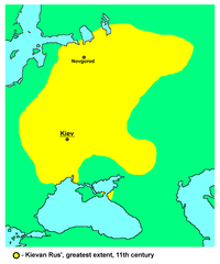 Map of the Kievan Rus', 11th century.