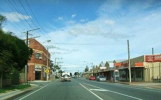 Kilkenny, South Australia - Looking south on David Terrace. Kilkenny is on the left.
