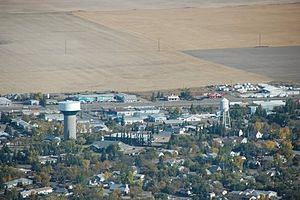 Kindersley - Aerial view of Kindersley, Saskatchewan