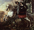 King Charles II and Jane Lane riding to Bristol by Isaac Fuller.jpg