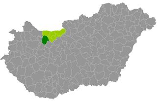 Districts of Hungary in Komárom-Esztergom