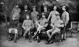 Peace conference at Vereeniging Kitchener at the Peace Conference that ended the Second Boer War.png
