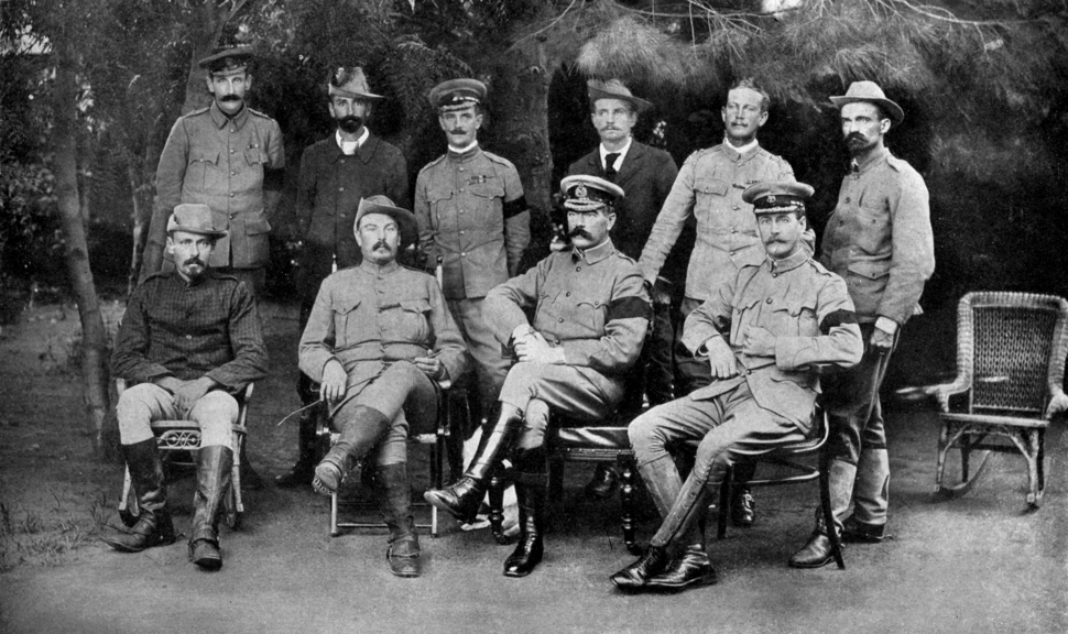 Kitchener at the Peace Conference that ended the Second Boer War
