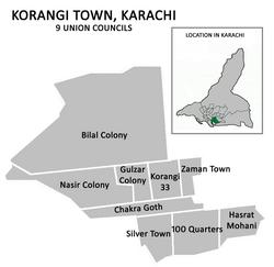 Город Коранги был разделен на 9 советов Союза.