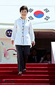 Korea President Park Arrives Bejing 20130627 01.jpg