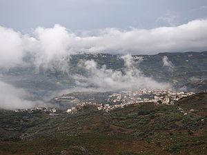 Krousonas - Krousonas in fog, view from west