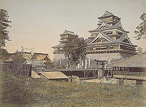 Kumamoto Castle - Image: Kumamoto Castle oldphoto 1871 1874