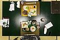 Kumoko steamed with sake, Tuna, Uni, Stripped Jack, Squid (11652261493).jpg