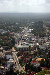 View of Kurunegala from the top of Ethagala.