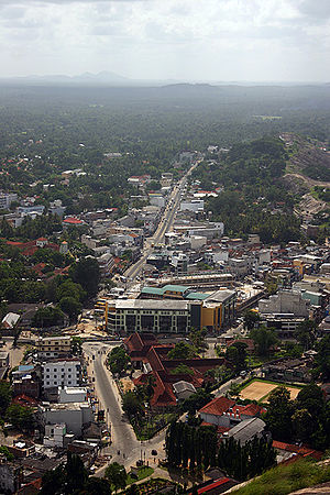 Kurunegala - View of Kurunegala from the top of Ethagala.