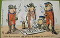 "L'Etat-Major du General ""OKU"" fumant à la recherche des positions russes (postcard).jpg"