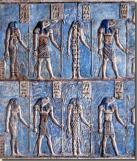 Ogdoad (Egyptian) eight primordial deities worshipped in Hermopolis, Ancient Egypt during the Old Kingdom period