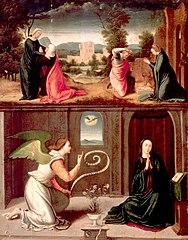 A Anunciação, a Visitação e a Natividade