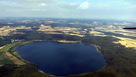 Aerial view of the Laacher See, Germany. Laacher See - Luftaufnahme.jpg