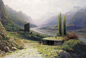 Lev Lagorio - Image: Lagorio, Lev Feliksovich. Kavkaz Landscape. Oil on canvas, 53x 76 cm. 1893