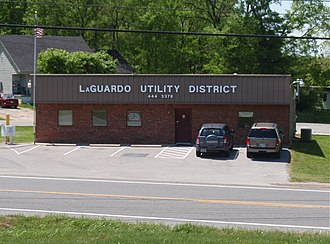 LaGuardo, Tennessee - LaGuardo Utility Building as seen from State Route 109