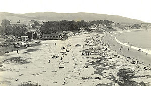 Laguna Beach, California - View of the Main Beach c. 1915