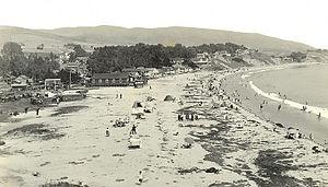 Laguna Beach, California - View of the Main Beach c. 1915