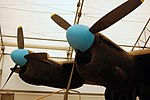 Lancaster FM136 right engines at Aero Space Museum of Calgary Flickr 6202266230.jpg