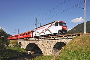 Rhaetian Railway Ge 4/4 III - Image: Landwasser Bruecke Davos 01 09