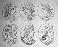 "Las Glorias Nacionales, 1852 ""Nº IX de Reyes de España. 1. Alonso IV 2. Ramiro II 3. Ordoño III 4. Sancho I 5. Ramiro III 6. Bermudo II"". (4013950132).jpg"