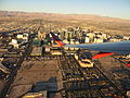 Las Vegas Strip During Takeoff from McCarran International Airport, Las Vegas, Nevada (15700549381).jpg