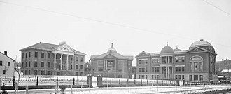 LDS Business College - The Latter-day Saints' University in 1905.