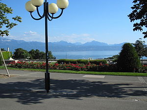 Montbenon - Image: Lausanne Esplanade Montbenon