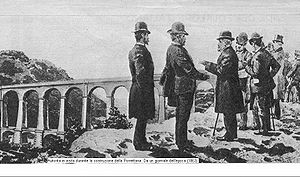 Porrettana railway - Officials visiting the construction of the Porrettana line in 1863