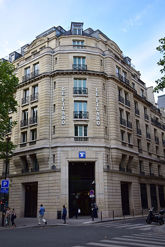 Newspaper of record - The headquarters of Le Figaro, France's centre-right newspaper of record, in Paris.