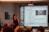 Lecture of Milena Dragicevic Sesic in Minsk 5.02.2015 02.JPG