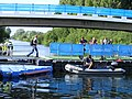 Lee Navigation temporary floating bridge. white water centre 2012 Olympic games (7699945036).jpg