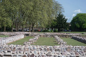 Knighton's Chronicon - Abby ruins St Mary of the Meadows