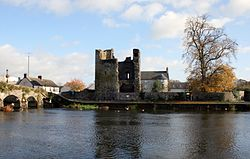 The Black Castle on the River Barrow in Leighlinbridge