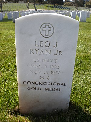 Leo Ryan - Image: Leo J. Ryan headstone
