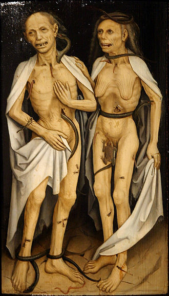 Undead - The deceased lovers, ca. 1470 (Strasbourg, Musée de l'Œuvre Notre-Dame)