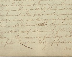 Anna Maria Lane - Letter from William Cabell about Anna Maria Lane