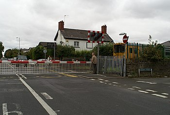 English: Level crossing at Duke Street, after ...